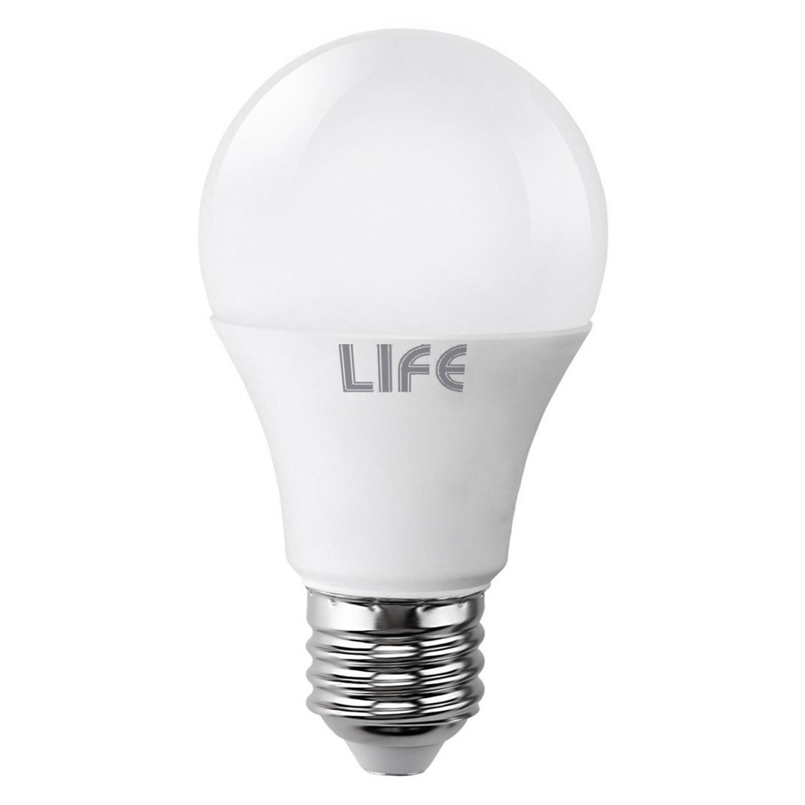 Lampada lampadina e27 led smd life bulbo luce bianca calda for Luce bianca led