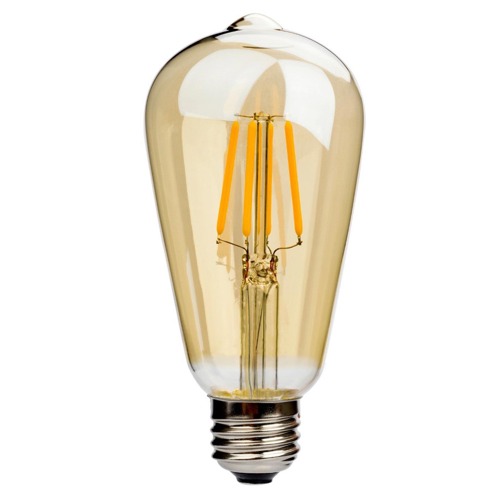 Lampadina lampada a filamento led 6w e27 2200k 500lm v tac for Lampada a lampadina