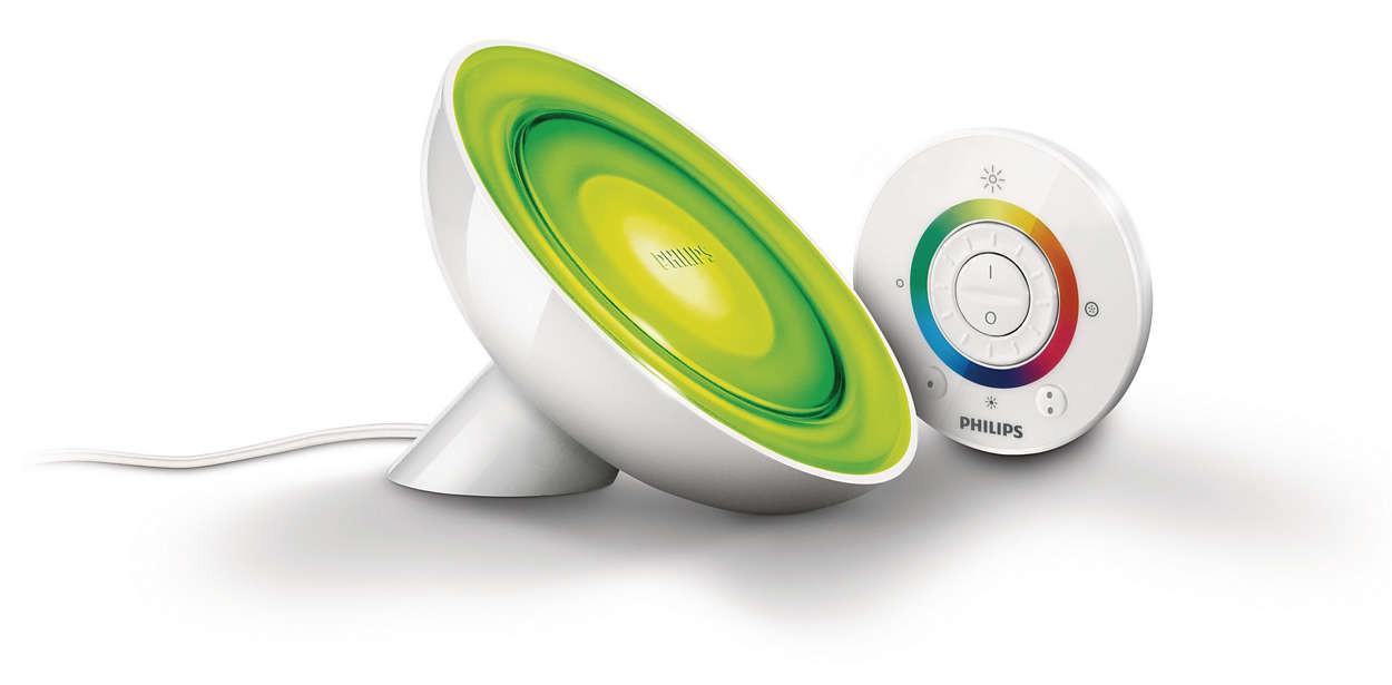 Philips LivingColors Lampada da tavolo Bloom bianca, bianco, LED