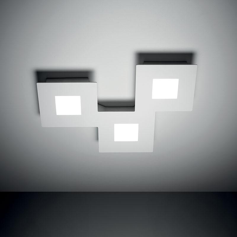 VIVIDA INTERNATIONAL Plafoniera bianca in alluminio led 20w squares 3000k 980 lumen