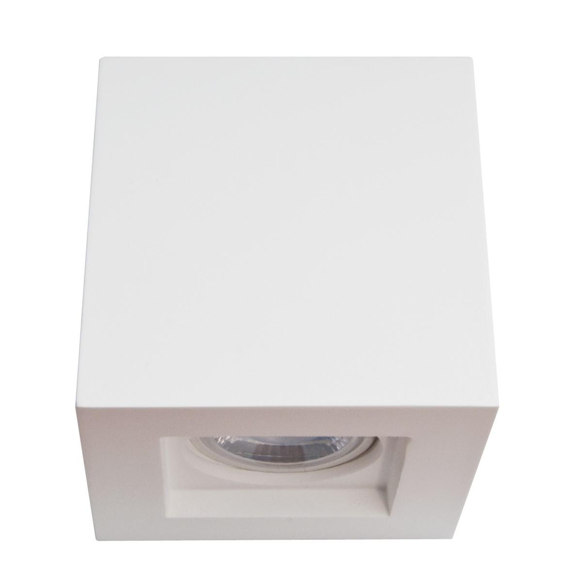 Spot cubico in gesso isyluce gu10 a soffitto per interno - Portapentole da soffitto ...