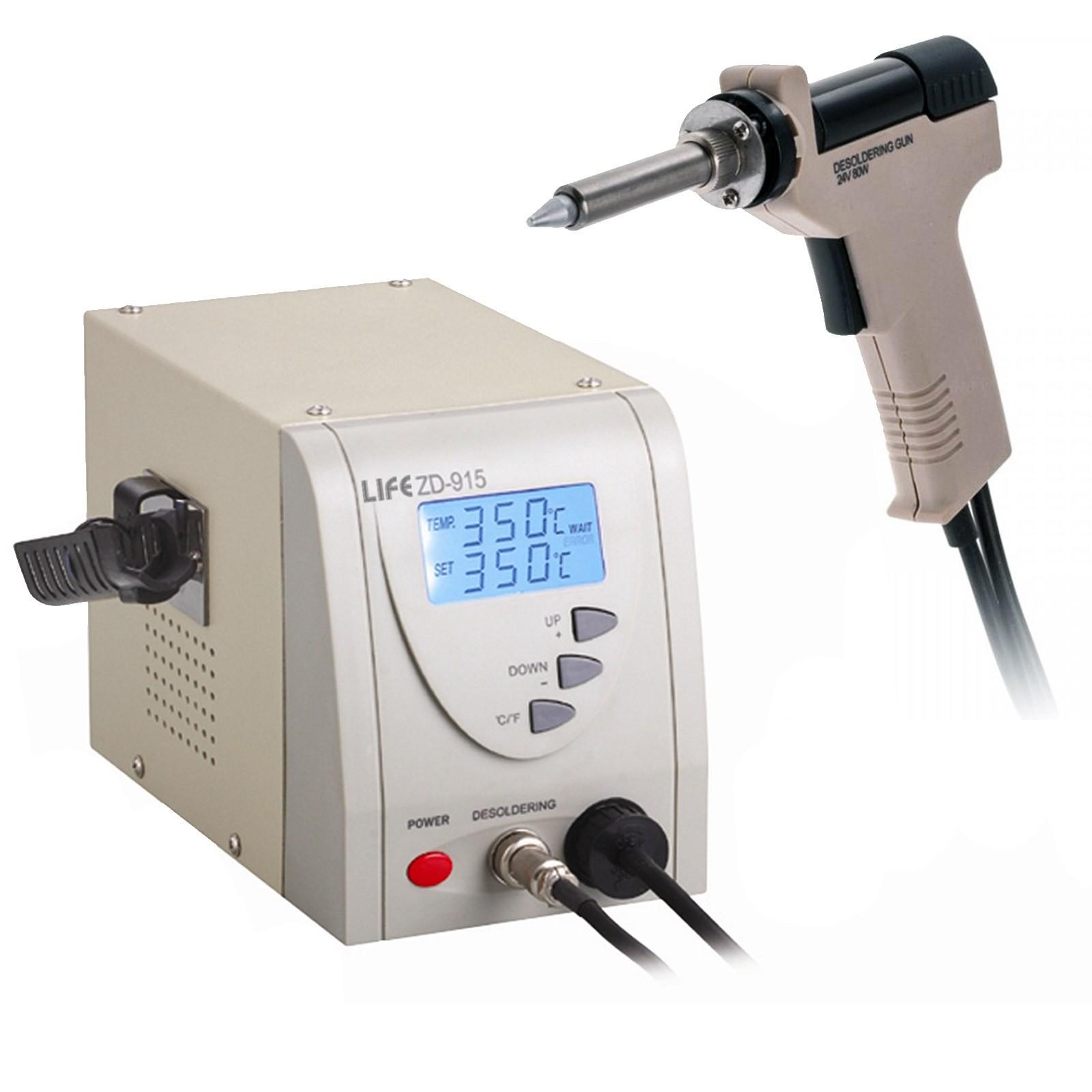 Stazione Dissaldante Digitale LIFE ZD-915 Saldatore Stagno Professionale 80 WATT