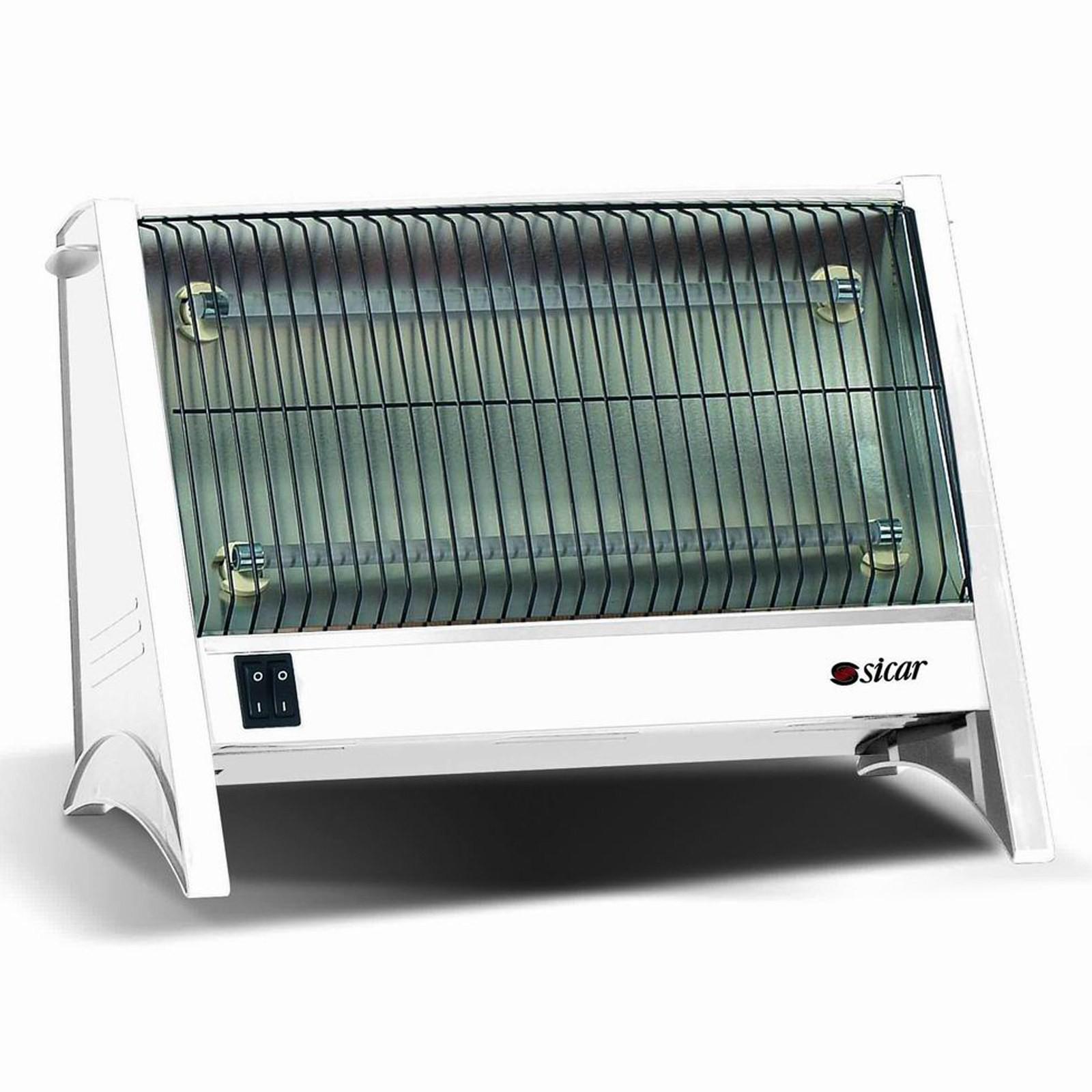 Stufa alogena elettrica stufetta tubi al quarzo potenza 1200 watt riscaldamento area illumina - Stufa elettrica al quarzo ...