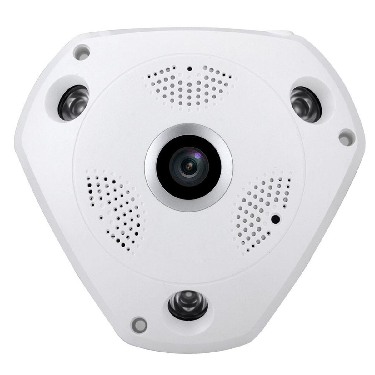 Telecamera Ip FishEye Wifi Panoramica 360 Gradi 720P
