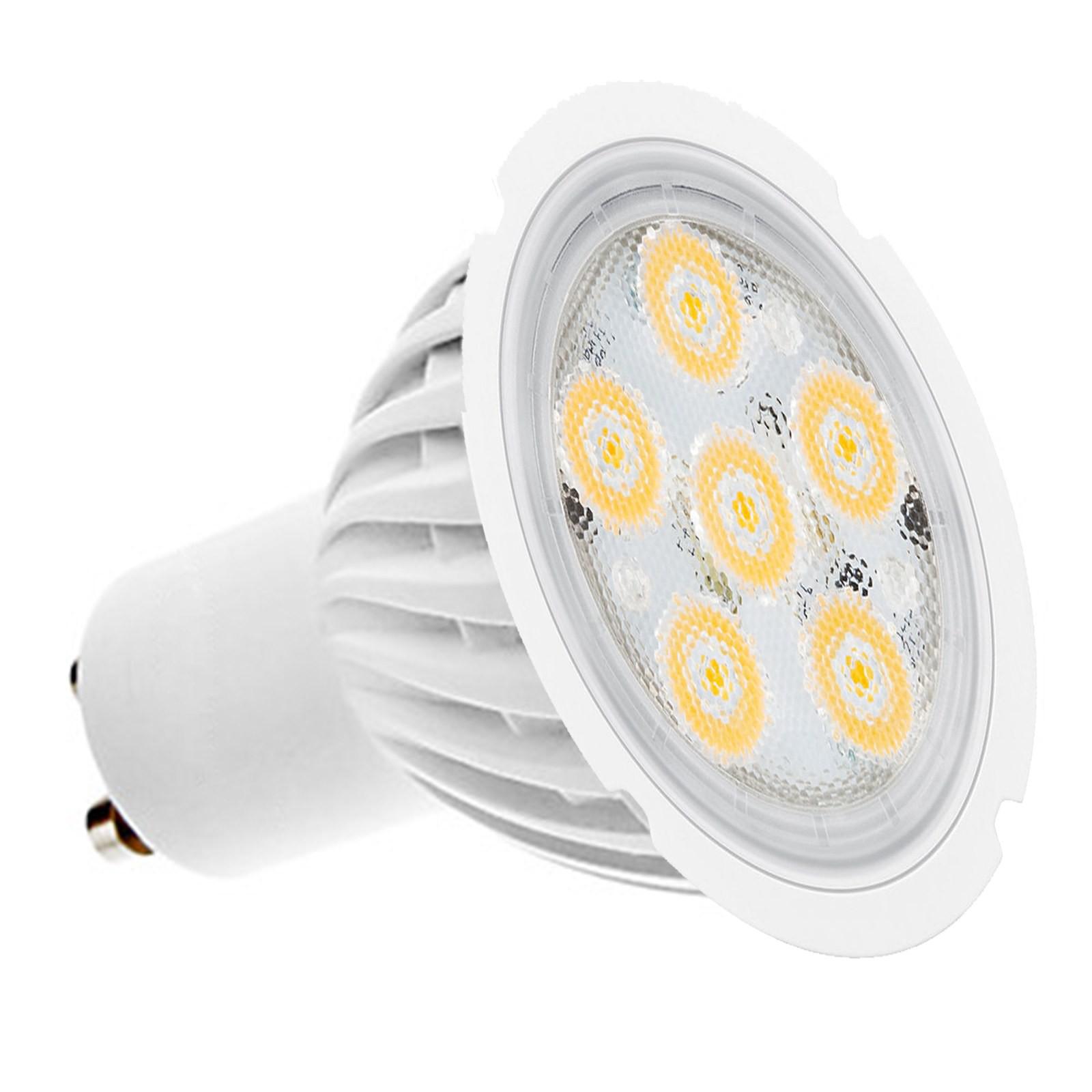lampadina lampada faro faretto a 6 led spot gu10 4w luce fredda smd 220 lumen area illumina. Black Bedroom Furniture Sets. Home Design Ideas