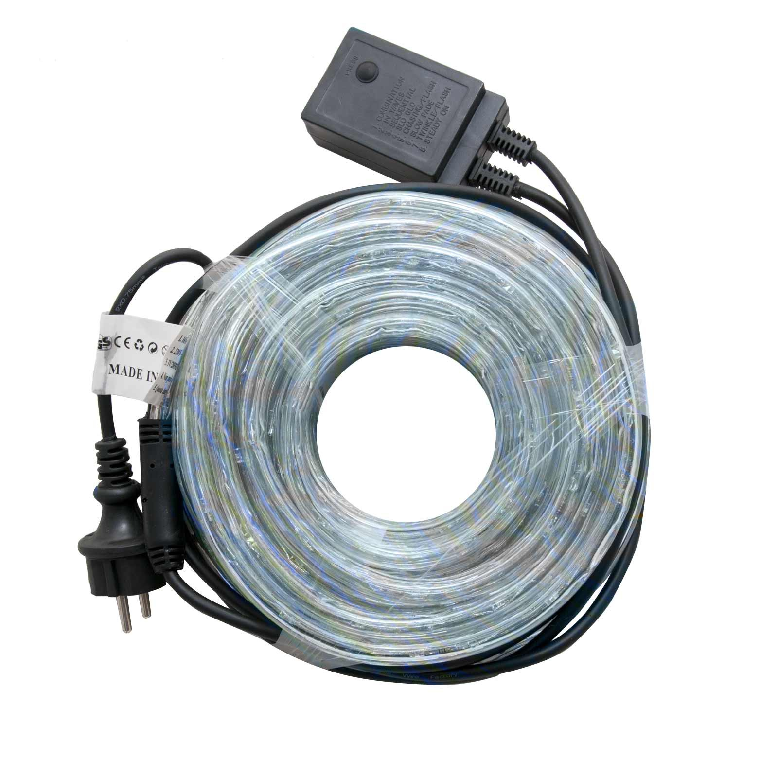 Tubo luminoso 10m luci di natale luce fredda a led 8 for Tubi luminosi led