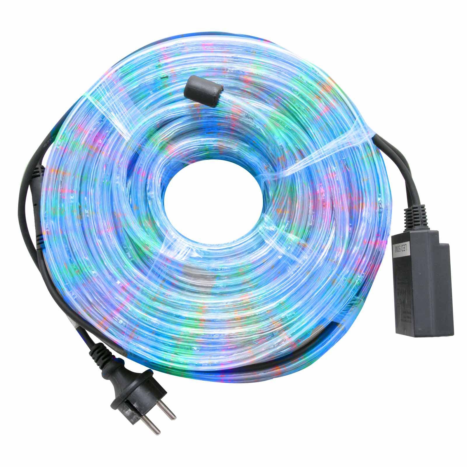 Tubo luminoso bianco luce multicolor rgb 30 metri luci a for Luci led piccole