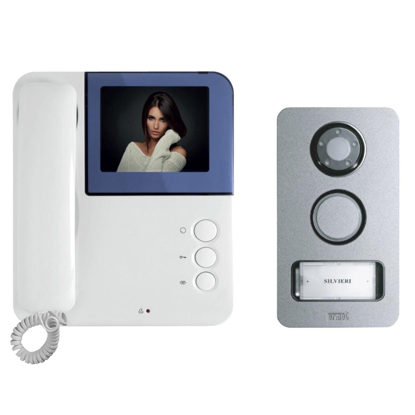 Kit videocitofono urmet simply mikra video monitor colori for Citofono elettronico urmet atlantico schema