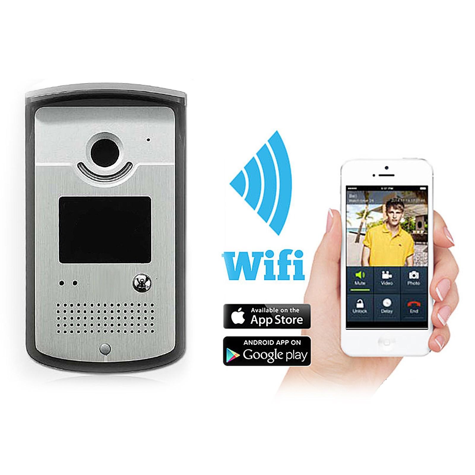 Citofono Senza Fili : Citofono videocitofono senza fili wireless wifi chiamata
