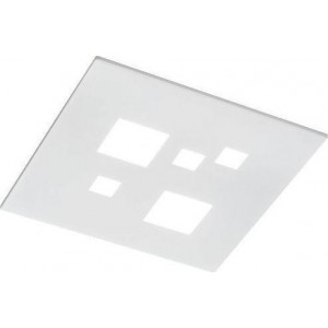 Perenz Plafoniera in metallo bianco Led 27W 2160lm 4000K