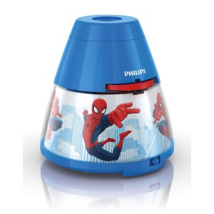 PHILIPS Marvel Luce notturna e proiettore 2 in 1 Spider-Man Blu LED
