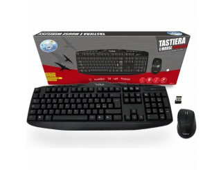 KIT TASTIERA E MOUSE WIRELESS SENZA FILI 2,4 GHZ PER COMPUTER PC VULTECH NUOVO