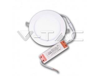 V-TAC 6w pannello led premium rotondo bianco caldo 3000k - v-tac
