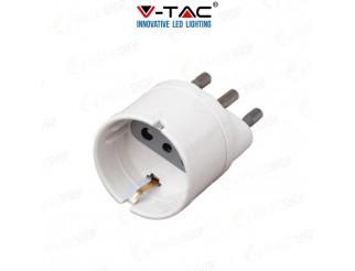 V-TAC Adattatore spina 16a presa 2p+t 10a schuko