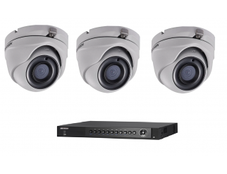 Kit HIKVISION telecamere mini dome turbo hd 2.8mm + dvr 16 canali 4mpxl