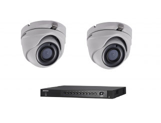 Kit HIKVISION Dvr 8 canali ibrido turbo+ Telecamera mini dome HD 2.8mm 3mpxl