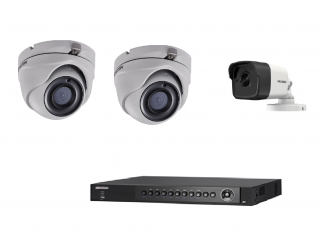 Kit HIKVISION Dvr 16 canali turbo hd+telecamera mini dome hd 3mpxl 2.8 mm+camera bullet IP 3.6mm