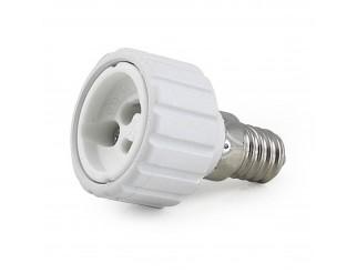 Adattatore Convertitore Riduzione Lampada Lampade Faretto LIFE LED Da E14 a GU10