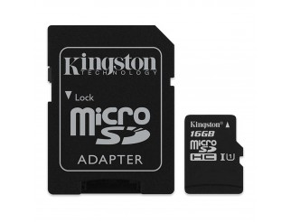 Memory Card Sdhc Sd Micro Scheda Memoria KINGSTON 16 GIGA GB Adapter Videocamera