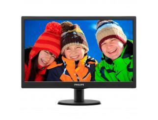 Monitor Schermo LED VGA DVI 18,5 Pollici PHILIPS 193V5LSB2 per Pc Computer 16:9