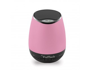 CASSA AUDIO BLUETOOTH VULTECH LETTORE MP3 USB MICRO SD VIVAVOCE ROSA VULTECH NEW
