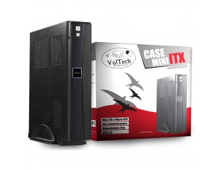 CASE  MINI ITX CABINET CON ALIMENTATORE 75 W PER PC COMPUTER VULTECH NEW GS-1555