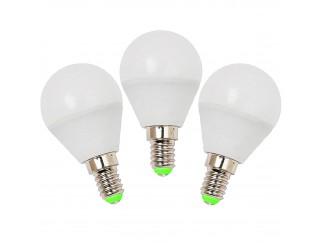 3 PZ LAMPADE LAMPADA LAMPADINE A LED LUCE CALDA ATTACCO E14 5 W MINISFERA LIFE