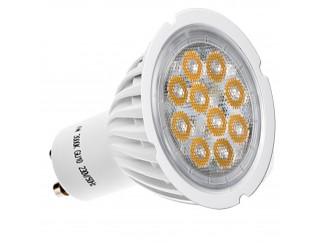 LAMPADINA LAMPADA FARO FARETTO A 10 LED SPOT GU10 6W LUCE CALDA SMD 300 LUMEN