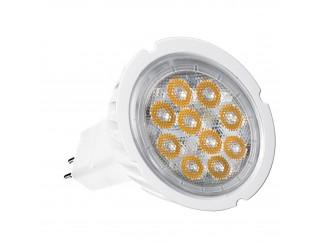 LAMPADINA LAMPADA FARO FARETTO A 10 LED SPOT GU 5.3 6W MR16 LUCE CALDA SMD 300LM