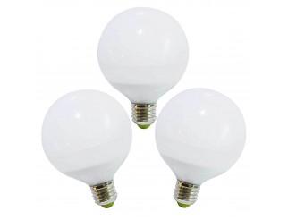 3 PZ LAMPADE LAMPADA LAMPADINE A LED LUCE CALDA ATTACCO E27 12 WATT GLOBO LIFE
