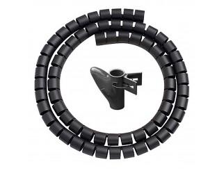 Spirale Copri Cavo Nascondi Cavi Copricavo Tubo Flessibile Nero VULTECH SN21505
