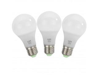 3 PEZZI LAMPADA LAMPADINE LAMPADE A LED LUCE NATURALE NATURA GOCCIA E27 7W LIFE