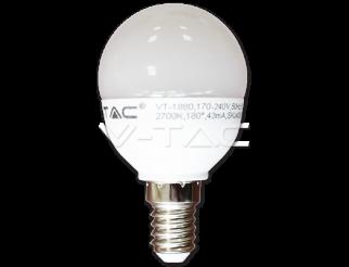 Lampadina lampada LED 6W E14 P45 Bianco caldo V-TAC 2700K 470lm