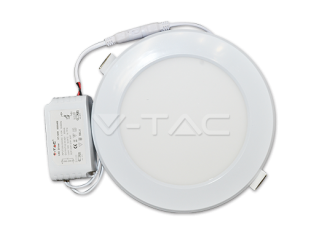 Pannello 12W LED Rotondo Bianco Incasso 6000K 900 lm V-tac