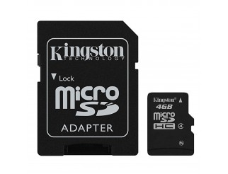 Memory Card Sd Micro Scheda Memoria KINGSTON 4 GIGA GB Adapter Adattatore Sdhc