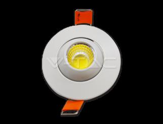 Faretto 3W Spot LED Regolabile Rotondo 200lm 4000K V-tac