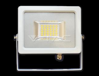 Faretto 20W Proiettore LED Corpo Bianco SMD 6000K IP65 1600lm V-tac