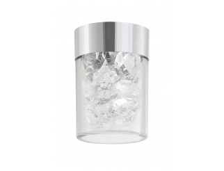 Clip luci con vetro decorativo in plastica e cristalli, adatto per 7240