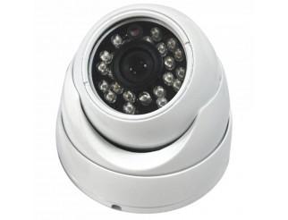 TELECAMERA DOME VIDEOSORVEGLIANZA IR INFRAROSSI 24 LED CMOS 600 TVL LINEE 3,6mm