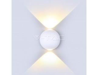 V-TAC Applique 6W LED Bianco Rotondo IP65 4000K 660lm
