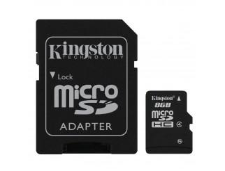 Scheda di Memoria SD Micro Memory Card Classe 8 GIGA GB con Adattatore KINGSTON