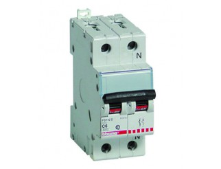 Interruttore magnetot Salvavita 1P+N curva C 6A 4,5kA Magnetotermico Automatico
