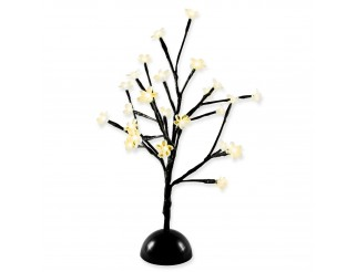 Albero Bonsai Luminoso 24 Led Luci di Natale 40 cm Decorazione Luce Calda