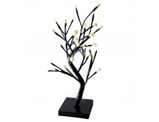 Albero Di Natale Bonsai Luminoso 32 Led 45 Cm Decorazione Natalizia Luce Calda