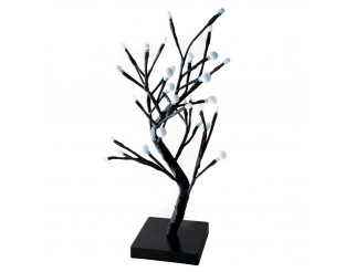 Albero Di Natale Bonsai Luminoso 32 Led 45 Cm Decorazione Natilizia Luce Fredda