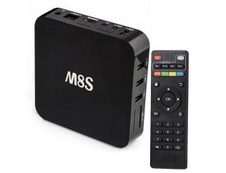 Android TV Box 4K Smart TV 4K Quad Core Kodi M8S Internet TV