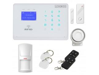 Antifurto Allarme Touch Screen Casa Kit Combinatore GSM WIRELESS Senza Fili