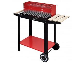 Barbecue carbone carbonella BBQ con Ruote griglia In acciaio Legna Trolley