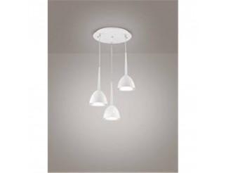 Sospensione 3 luci Campana Bianco 35x140 3xE27