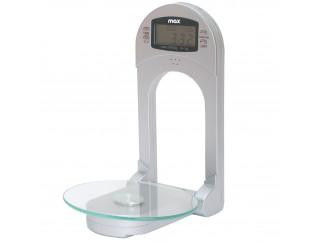 Bilancia Bilancino Digitale Da Cucina per Parete Max 3 Kg con Piano in Vetro